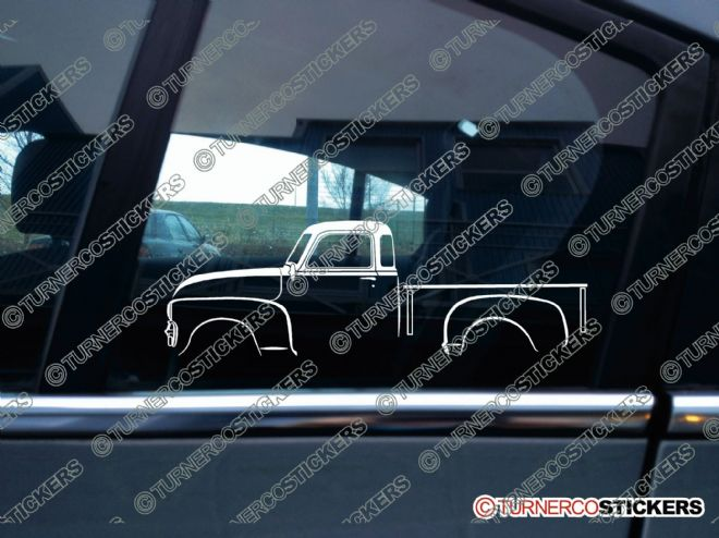 2x Car Silhouette sticker -  Chevrolet vintage Pickup 1947-1955 (version 1)